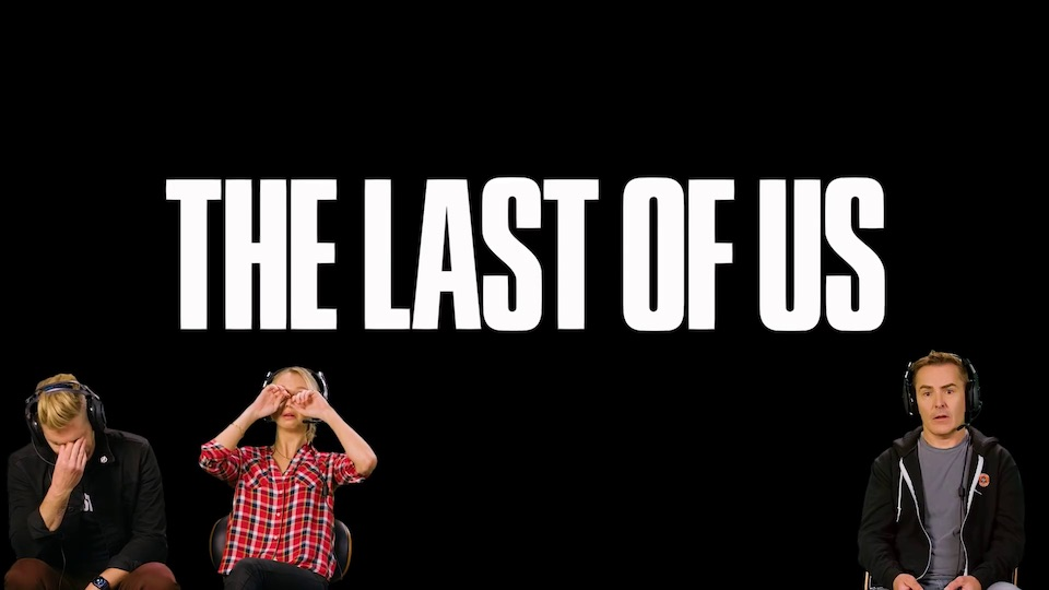 Troy Baker, Hana Hayes and Nolan North playing The Last of Us together